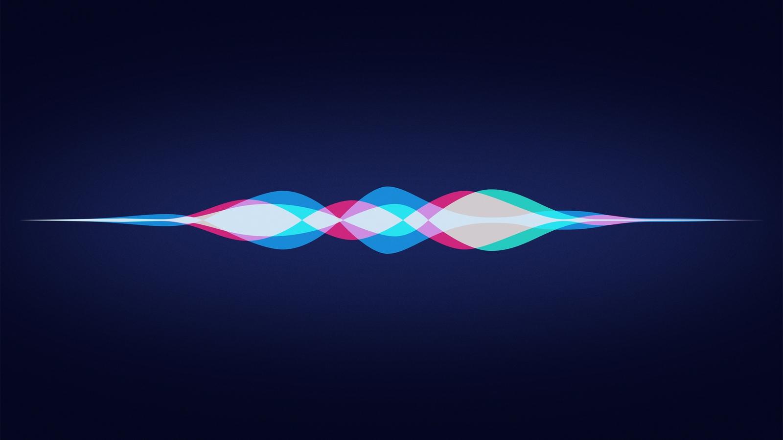 Siri, immagine grafica dell'onda vocale di Siri.