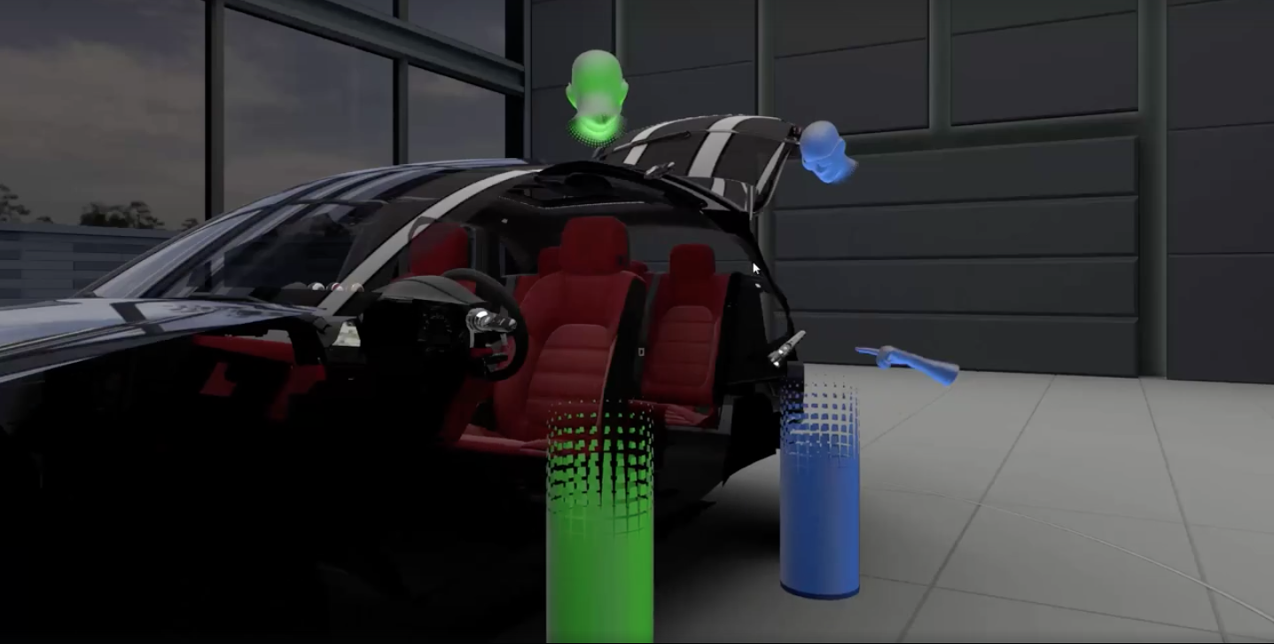 Virtually Porsche, immagine dal video di VRScout
