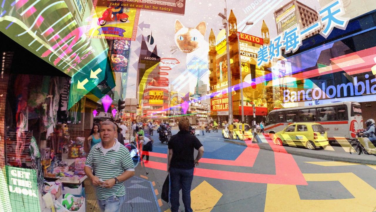 Frame dal film Hyper-Reality, di Keiichi Matsuda