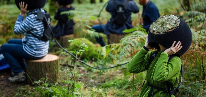 ITEOTA - immagine dell'installazione VR nella foresta inglese. foto Marshmallow Laser Feast